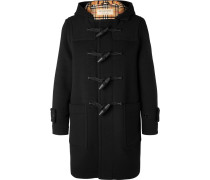 Hooded Wool-blend Duffle Coat - Black