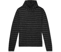 Slim-Fit Striped Wool and Lurex-Blend Rollneck Sweater