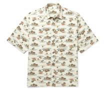 Printed Cotton-poplin Shirt - Cream