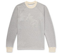 Logo-embroidered Mélange Loopback Cotton-jersey Sweatshirt - Gray