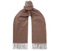 Fringed Colour-Block Cashmere Scarf