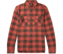 Matlock Checked Cotton-twill Shirt - Red
