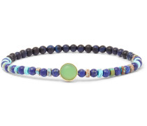 Lapis Lazuli, Turquoise and 14-Karat Gold Bracelet
