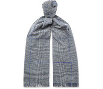 Prince Of Wales Checked Wool Scarf