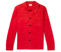 Brushed Cotton-twill Jacket - Red