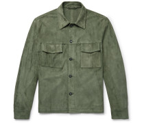 Suede Shirt Jacket - Green