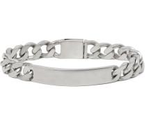 Burnished Sterling Silver ID Bracelet