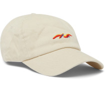 Embroidered Cotton-twill Baseball Cap - Cream