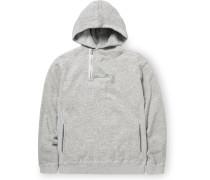 Dweller Mélange Loopback Cotton-Jersey Half-Zip Hoodie