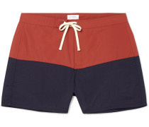Ennis Short-length Colour-block Swim Shorts - Navy