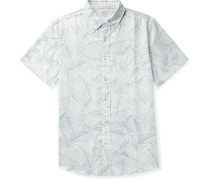 Playa Button-Down Collar Printed Cotton Shirt