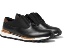 Fast Track Tornio Leather And Shell Sneakers - Black