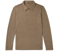 Matana Mélange Wool-Blend Polo Shirt