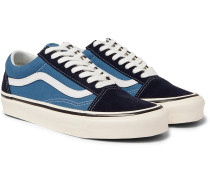 Anaheim Factory Ua Old Skool 36 Dx Leather-trimmed Canvas And Suede Sneakers - Navy