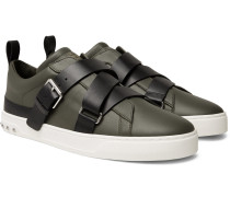 Valentino Garavani V-punk Leather Sneakers