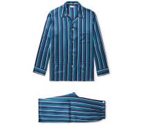 Brindisi Striped Silk Pyjama Set