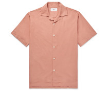 Camp-Collar Garment-Dyed Cotton Shirt