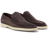 Summer Walk Suede Loafers - Dark gray