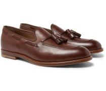 Leather Tasselled Loafers - Dark brown