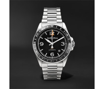 BR V2-93 GMT Automatic 41mm Stainless Steel Watch, Ref. No. BRV293-BL-ST/SST