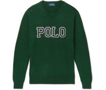 Logo-Appliquéd Cotton Sweater