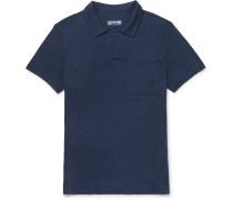 Pyramid Slim-Fit Slub Linen-Jersey Polo Shirt