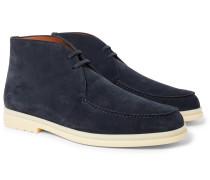 Walk And Walk Suede Chukka Boots - Navy
