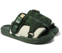 Christo Colour-Block Canvas and Rubber Sandals