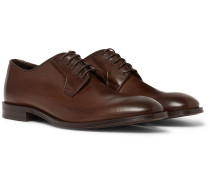 Chester Leather Derby Shoes - Dark brown