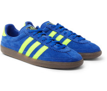 Spezial Whalley Leather-trimmed Suede Sneakers - Cobalt blue
