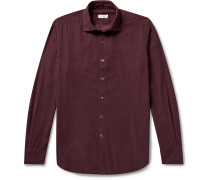 Slim-Fit Cotton-Corduroy Shirt