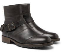 Trialmaster Distressed Leather Boots - Black