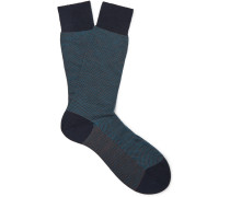 Blenheim Merino Wool-blend Socks - Navy