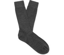 Ribbed Merino Wool Socks