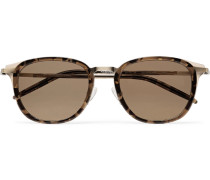 + Allied Metal Works Tortoiseshell Acetate And Gold-tone Polarised Sunglasses