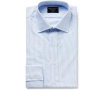 Sky-blue Striped Cotton Oxford Shirt - Sky blue