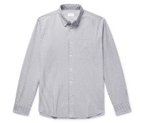 Slim-fit Striped Cotton-seersucker Shirt