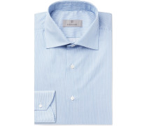 Blue Striped Cotton Shirt - Blue