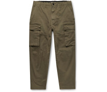 City Cropped Cotton-Blend Twill Cargo Trousers