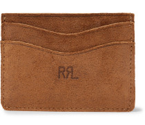 Roughout Suede Cardholder - Brown