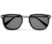D-frame Acetate And Silver-tone Sunglasses - Black