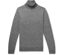 Mélange Cashmere and Silk-Blend Rollneck Sweater