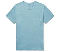 Slub Organic Pima Cotton-jersey T-shirt - Turquoise