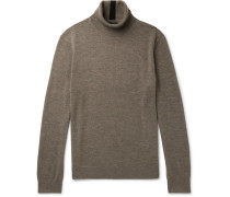 Merino Wool Rollneck Sweater - Brown