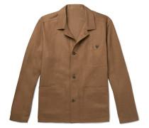 Linen Shirt Jacket - Brown