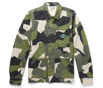 Paul Camouflage-print Organic Cotton-canvas Jacket - Green