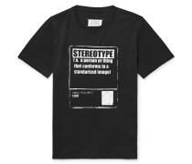 Printed Cotton-jersey T-shirt