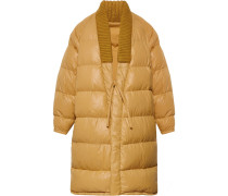 Yukata Oversized Wool-trimmed Quilted Nylon Down Coat - Mustard