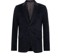 Midnight-Blue Soho Slim-Fit Cotton and Cashmere-Blend Corduroy Suit Jacket