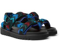 Jacquard-Knit Sandals
